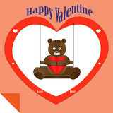 Bear Valentine stock images