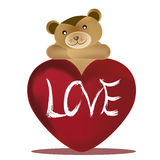Bear and valentines day Royalty Free Stock Images