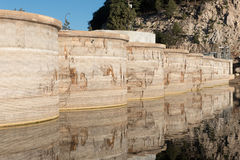 Bear Valley Dam multiple arch type on Bear Lake, CA. Stock Image