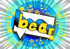 Bear - Vector illustrated comic book style phrase. vector illustration