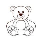 Bear. Vector illustration. Bear on a light background. Vector illustration Royalty Free Stock Photos