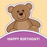 Bear. Vector illustration. Teddy Bear on a light background. Vector illustration Royalty Free Stock Images