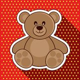 Bear. Vector illustration. Teddy Bear on a red background. Vector illustration Royalty Free Stock Image