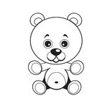 Bear. Vector image. Good brown bear. Children's toy. Vector illustration Royalty Free Stock Photography