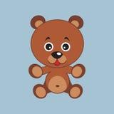 Bear. Vector image. Good brown bear. Children's toy. Vector illustration Stock Images