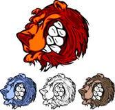 Bear Vector Mascot Logo. Vector Illustration of Bears Mascot Logos Royalty Free Stock Photos