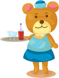 Bear waitress Stock Photos