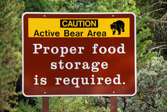 Bear warning Royalty Free Stock Photo