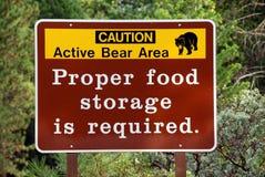 Bear warning Royalty Free Stock Photo