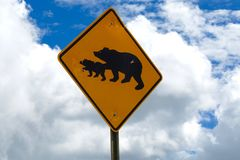 Bear Warning Royalty Free Stock Photos