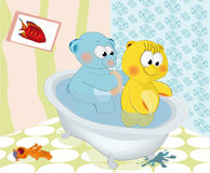 Bear washed a bear Stock Photo