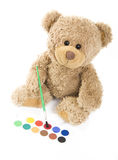 Bear and water colour Royalty Free Stock Images