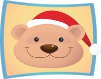 Bear wear santa hat Royalty Free Stock Photo