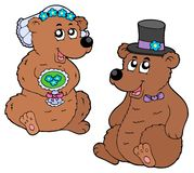 Bear wedding Royalty Free Stock Photography