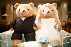 Bear wedding royalty free stock photo