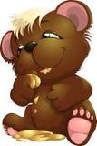 Bear. Who regales on sweet bee honey Stock Photos