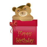 Bear wishes happy birthday Royalty Free Stock Images