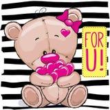 Bear With Hearts Stock Photos