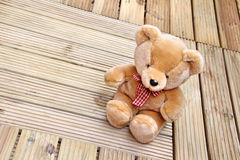Bear wood decking Stock Images