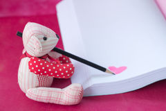 bear write the book Royalty Free Stock Image