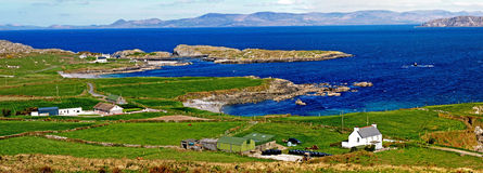 Beara Peninsula. Panorama view from Beara Peninsula over to kerry stock photos