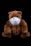 Bearabley sick two. Bear with mask also Stock Photo