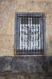 Bearbeitetes Eisen-Fenster-Grill Stockfoto