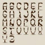 Beard alphabet Stock Photography