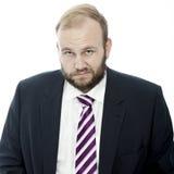 Beard business man is sad Royalty Free Stock Photos