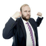 Beard business man is strong Stock Image