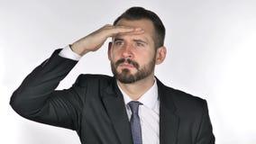 Beard Businessman Searching New Chance stock footage