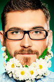 Beard of flowers Royalty Free Stock Photo