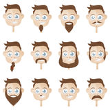 Beard head collection Stock Images