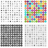 100 beard icons set vector variant. 100 beard icons set vector in 4 variant for any web design isolated on white Royalty Free Stock Images