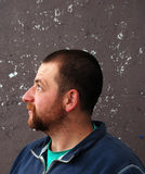 Beard man profile Royalty Free Stock Image