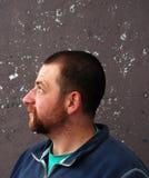 Beard man profile royalty free stock image
