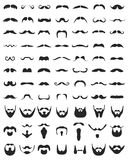 Beard and moustache Stock Images