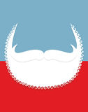Beard and mustache. Christmas Santa Claus attributes. Stock Photos