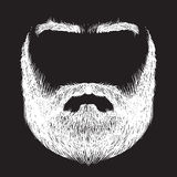 Beard, mustache, eyebrows. Form of beard, mustache, eyebrows, freehand drawing Royalty Free Stock Photos