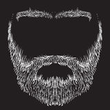 Beard, mustache, eyebrows. Form of beard, mustache, eyebrows, freehand drawing Royalty Free Stock Photography