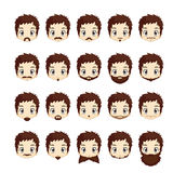 Beard and mustache icons set Royalty Free Stock Images