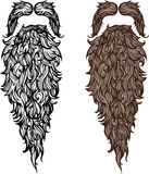 Beard and mustache. Illustration Stock Photos