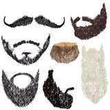 Beard with mustache. Vector illustration beard with mustache in various forms Royalty Free Stock Image