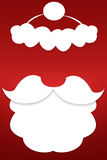 The beard of Santa Claus on a red background Stock Images