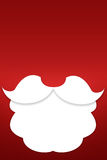 The beard of Santa Claus on a red background Royalty Free Stock Images