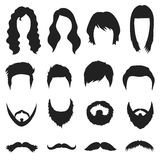 Beard set icons in black style. Big collection beard vector symbol stock illustration Royalty Free Stock Photo