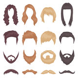 Beard set icons in cartoon style. Big collection of beard vector illustration symbol. Royalty Free Stock Photography