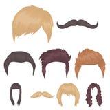 Beard set icons in cartoon style. Big collection of beard vector symbol stock illustration Royalty Free Stock Photo