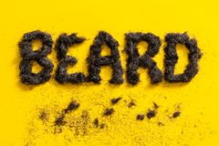 Beard word made of real beard trimmings Royalty Free Stock Photo