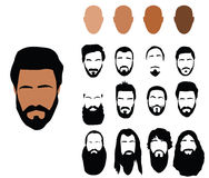 Beard styles Royalty Free Stock Image